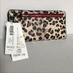 "Leopard Print w/Red Wallet, 7.5 x 4"", $15"